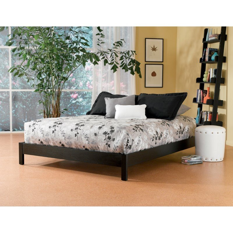 Fashion Bed Group Murray Platform Bed with Wooden Box Frame - Black Finish - King