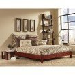 Fashion Bed Group Murray Platform Bed with Wooden Box Frame - Mahogany Finish - California King