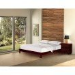 Fashion Bed Group Murray Platform Bed with Wooden Box Frame - Mahogany Finish - King