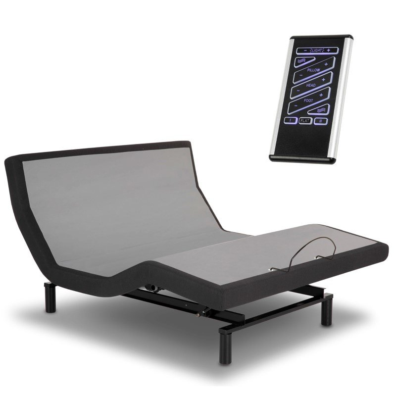 Fashion Bed Group P-132 Foundation Style Adjustable Bed Base with LPConnect and (8) USB Ports - Black Finish - Queen