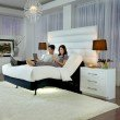 Fashion Bed Group P-132 Foundation Style Adjustable Bed Base with LPConnect and (8) USB Ports - Black Finish - Twin XL