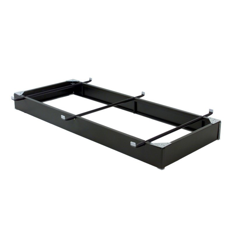 """Fashion Bed Group Pedestal 633 Bed Base with 6-1/4"""" Black Steel Frame and Detachable Bolt-On Headboard Brackets - Twin/Twin XL"""
