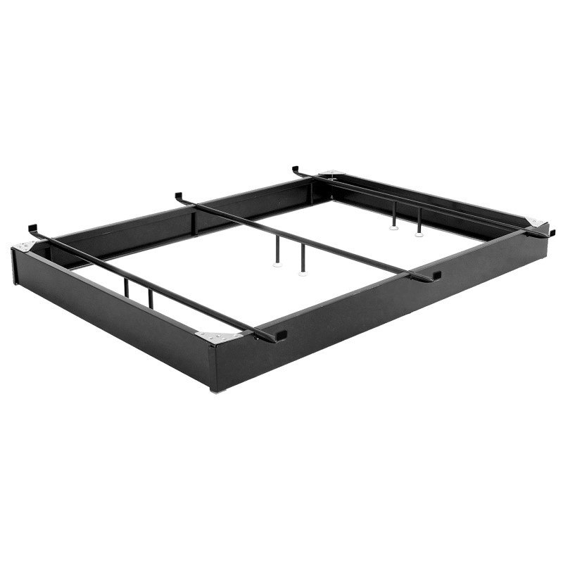 """Fashion Bed Group Pedestal 646 Bed Base with 6-1/4"""" Black Steel Frame and Detachable Bolt-On Headboard Brackets - Full/Full XL"""