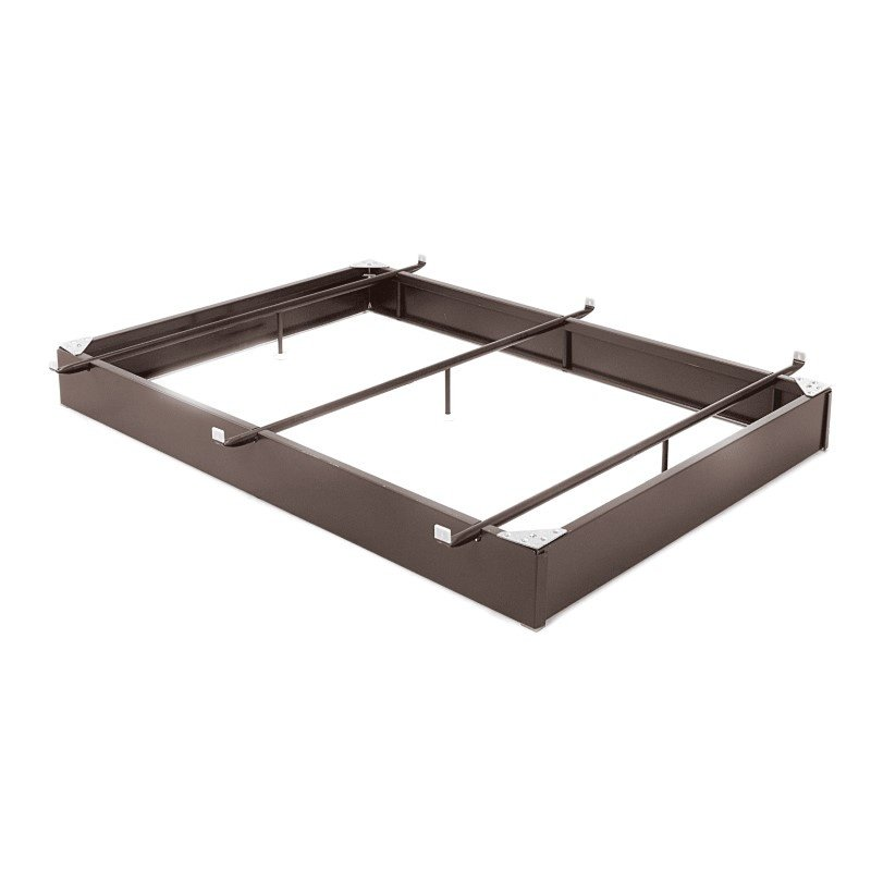 "Fashion Bed Group Pedestal 7546XL Bed Base with 7-1/2"" Brown Steel Frame and Center Cross Tube Support - Full XL"