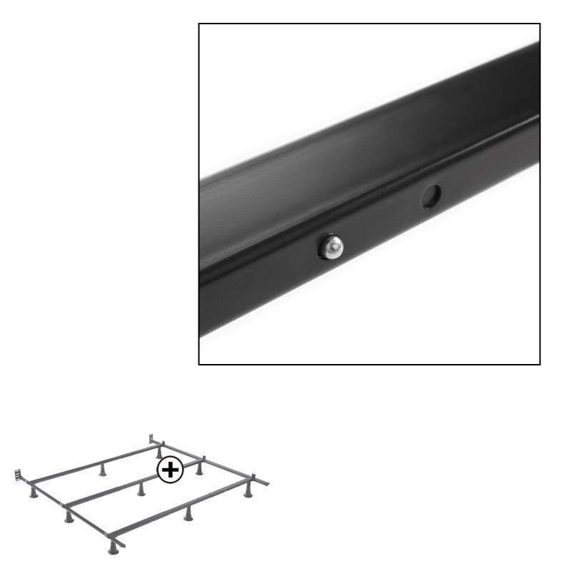 Fashion Bed Group Prestige P56 Premium Adjustable Bed Frame with Push-Pin Size Adjustment and Oversized Recessed Glide Legs - Queen/Cal King/King