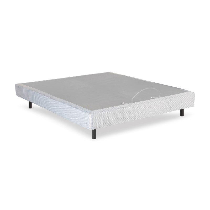 Fashion Bed Group Pro-Motion Adjustable Bed Base with Head and Foot Articulation - Gray Finish - Queen