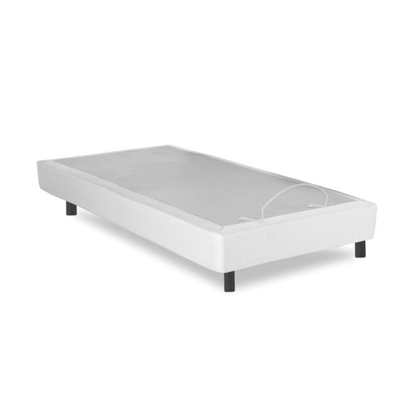 Fashion Bed Group Pro-Motion Adjustable Bed Base with Head and Foot Articulation - Gray Finish - Twin XL
