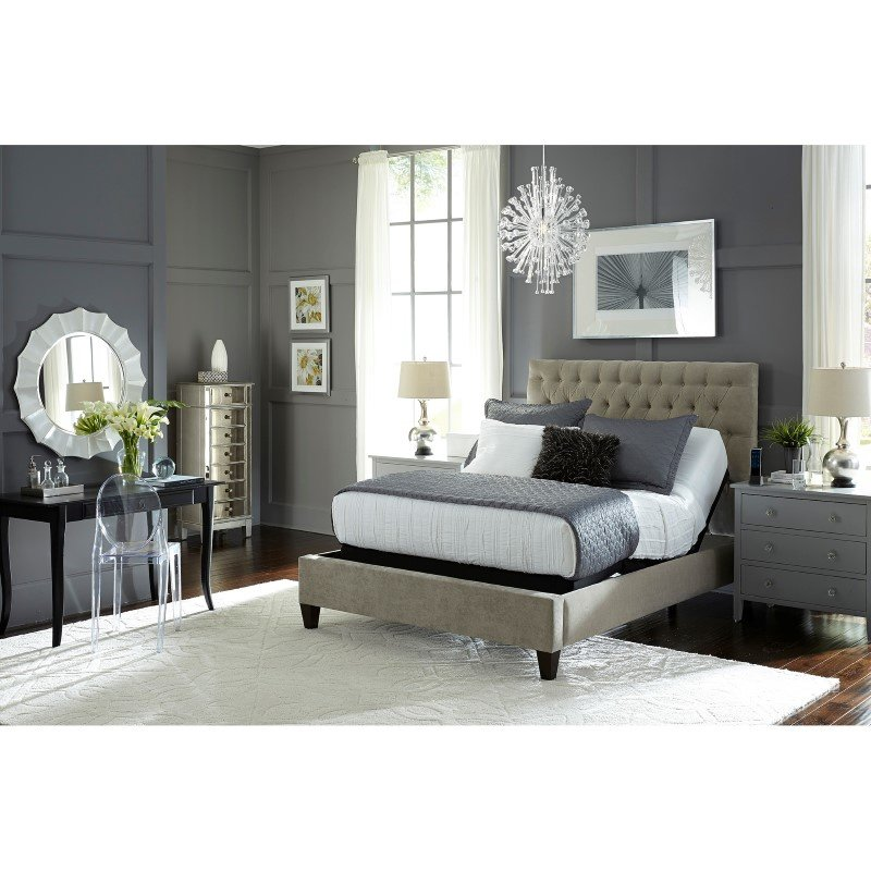 Fashion Bed Group Prodigy 2.0 Adjustable Bed Base with MicroHook Retention System - Black Finish - Twin XL