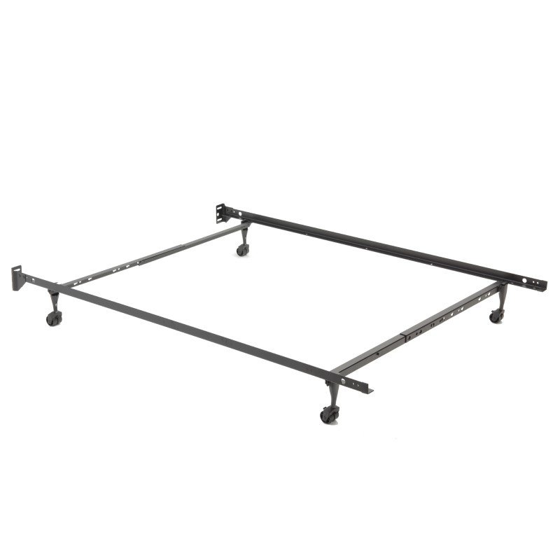 "Fashion Bed Group Restmore Adjustable 45R Bed Frame with Fixed Headboard Brackets and (4) 2"" Locking Rug Roller Legs - Twin/Full"