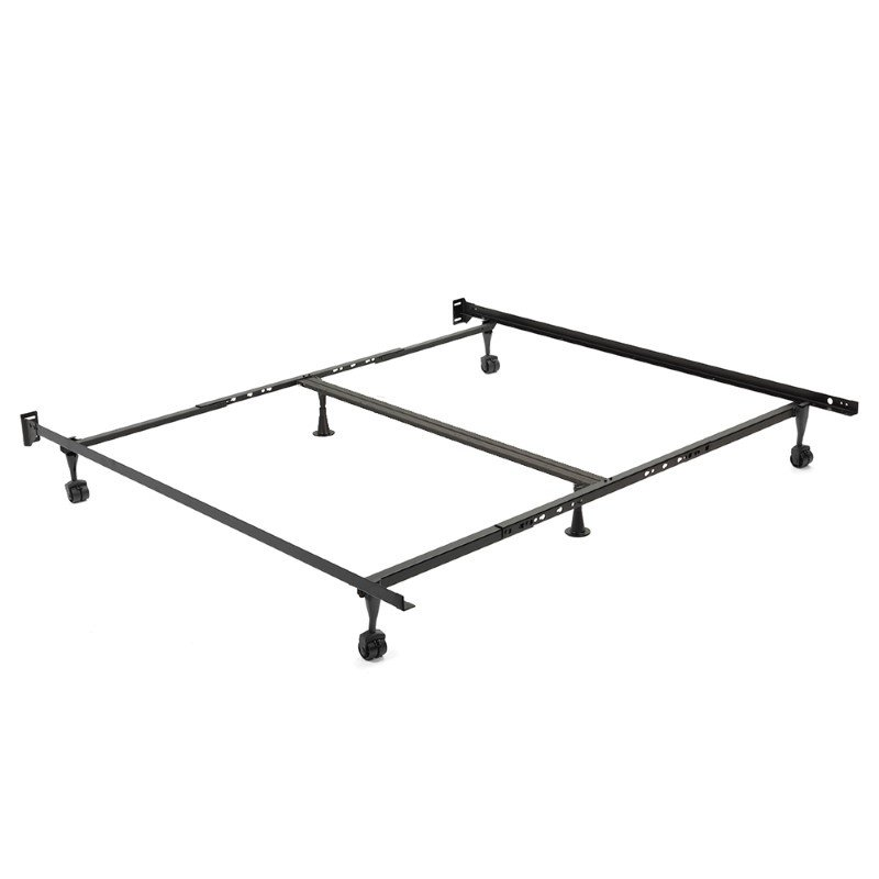 """Fashion Bed Group Restmore Adjustable 806R Bed Frame with Double Center Support and (4) 2"""" Locking Rug Roller Legs - Queen/Cal King/King"""