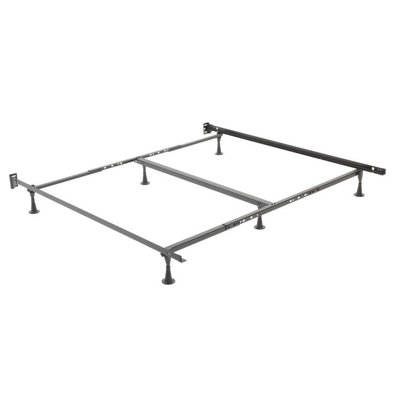 Fashion Bed Group Restmore Adjustable K45G Bed Frame with Fixed Headboard Brackets and (6) Leg Glide Legs - Queen/Cal King/King