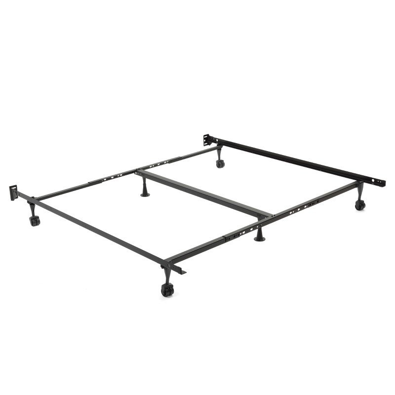 """Fashion Bed Group Restmore Adjustable K45R Bed Frame with Fixed Headboard Brackets and (4) 2"""" Locking Rug Roller Legs - Queen/Cal King/King"""