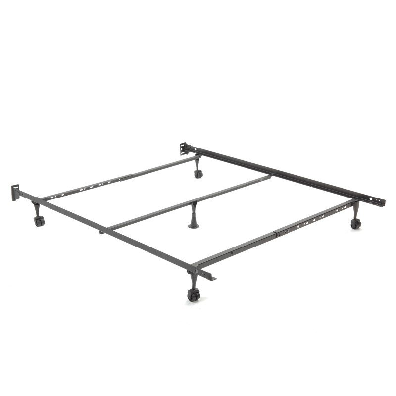 """Fashion Bed Group Restmore Adjustable Q45R Bed Frame with Fixed Headboard Brackets and (4) 2"""" Locking Rug Roller Legs - Full/Queen"""