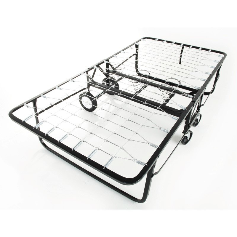 "Fashion Bed Group Rollaway 1290 Folding Cot and 30"" Fiber Mattress with Angle Steel Frame and Link Deck Sleeping Surface - 29"" x 75"""