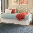 Fashion Bed Group Roselle Daybed with Sloping Rails and Finial Posts - Glossy White Finish - Twin