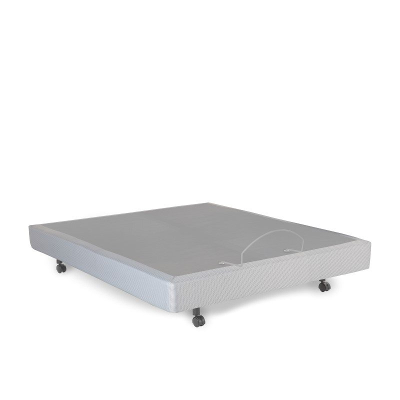 Fashion Bed Group S-Cape Adjustable Bed Base with Wallhugger Movement and Under-Bed Lighting - Gray Finish - Queen