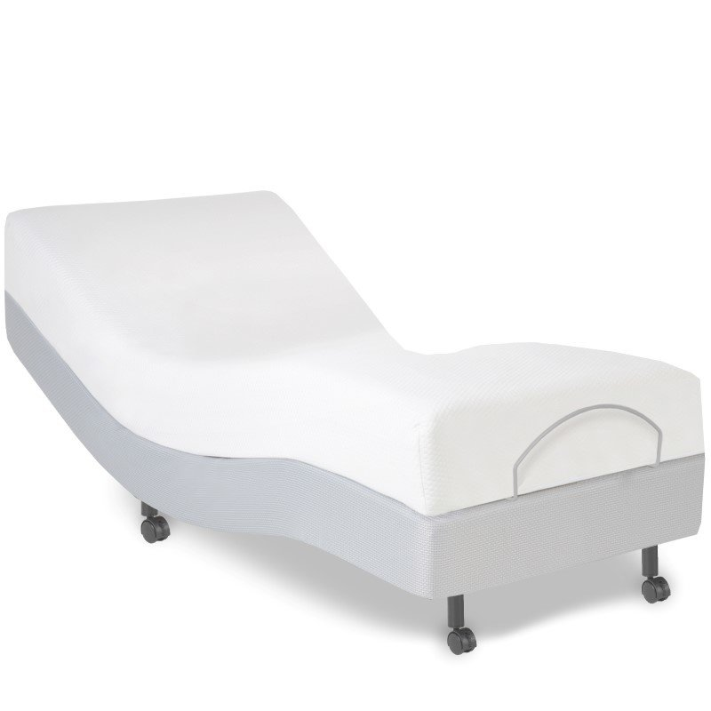 Fashion Bed Group S-Cape Adjustable Bed Base with Wallhugger Movement and Under-Bed Lighting - Gray Finish - Twin XL