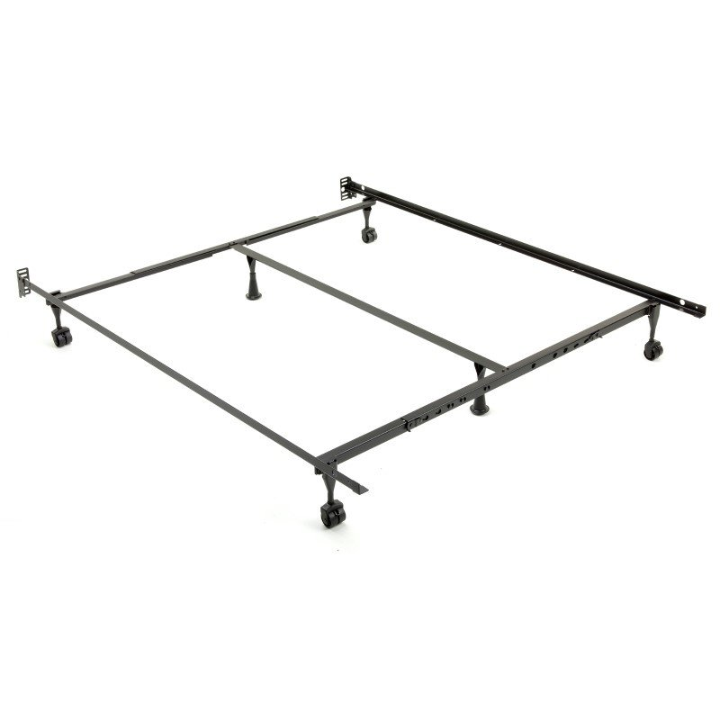 Fashion Bed Group Sentry 79/60-6R Adjustable Bed Frame with Headboard Brackets and (4) 2-Inch Locking Rug Roller Legs - Twin/King