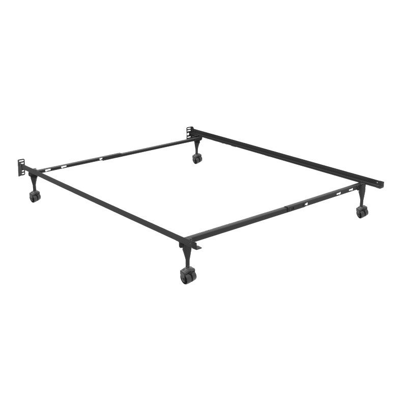Fashion Bed Group Sentry 79R Adjustable Bed Frame with Headboard Brackets and (4) 2-Inch Rug Roller Legs - Twin/Full