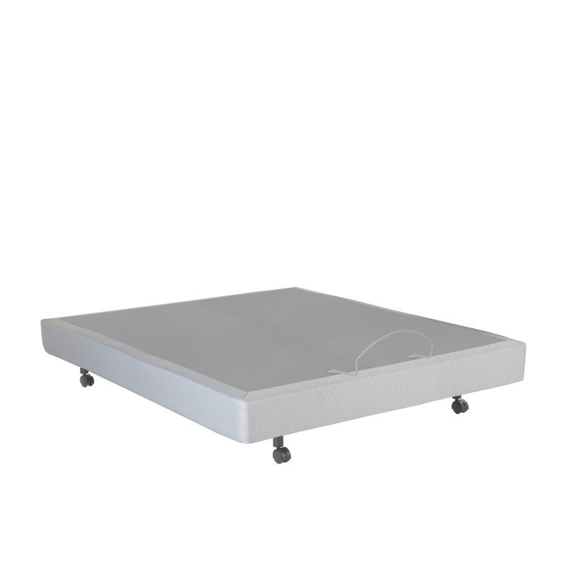 Fashion Bed Group Simplicity 2.0 Adjustable Bed Base with Full Body Massage and Wireless Remote - Gray Finish - Queen