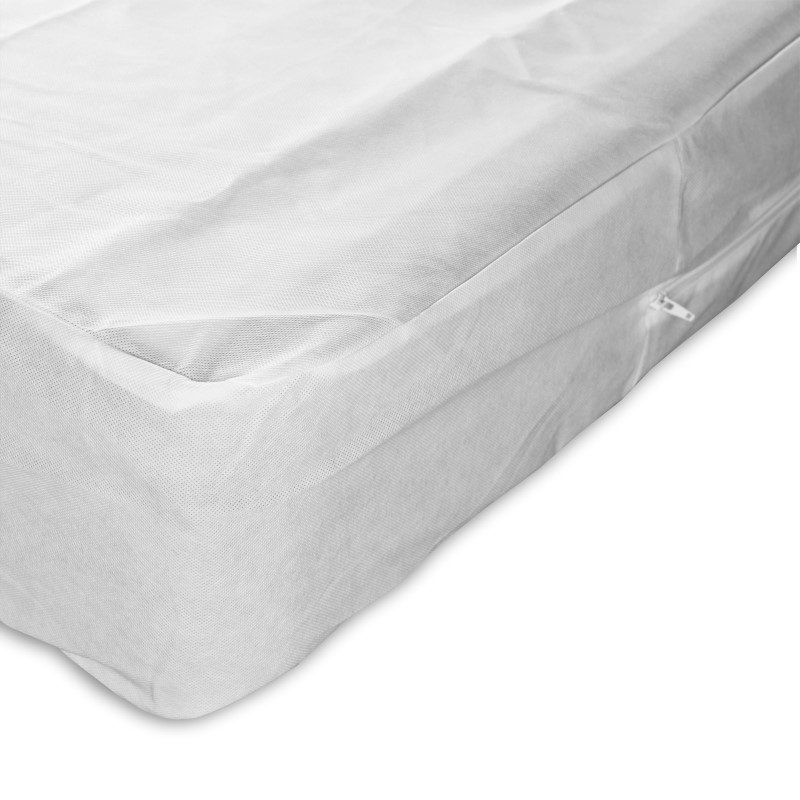 Fashion Bed Group Sleep Calm Nonwoven Zippered Box Spring Encasement with Bed Bug Defense - Queen