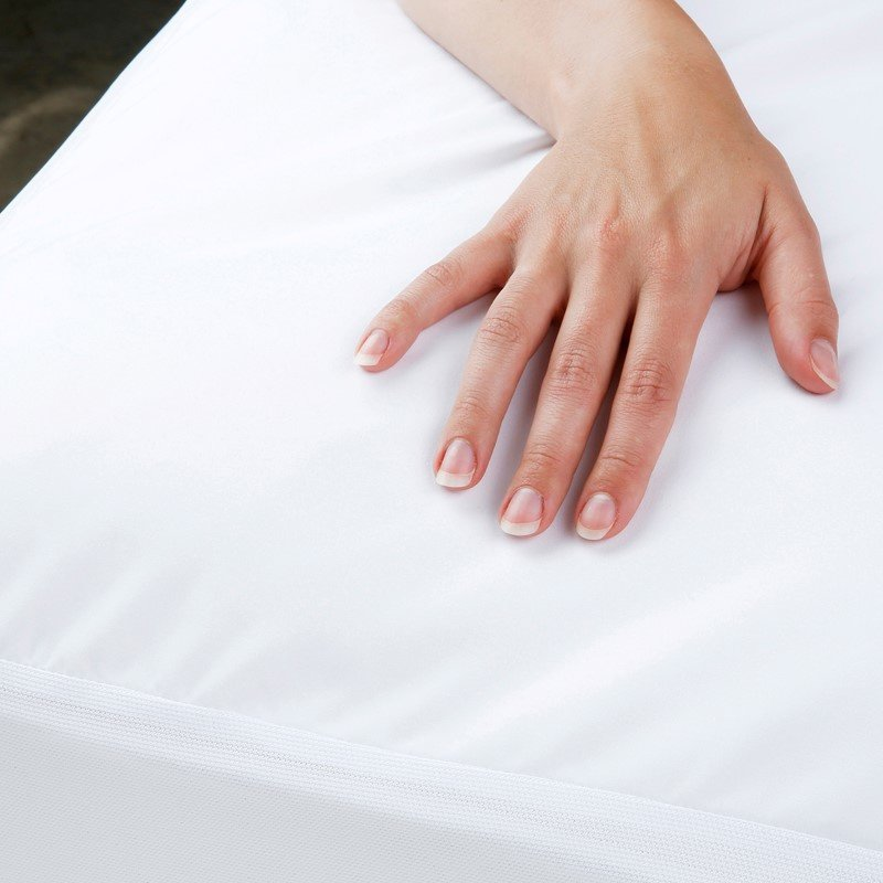 Fashion Bed Group Sleep Calm - Ultra-Premium Mattress Protector Bed Sheet with Moisture and Bacteria Resistant Crypton Fabric - Queen