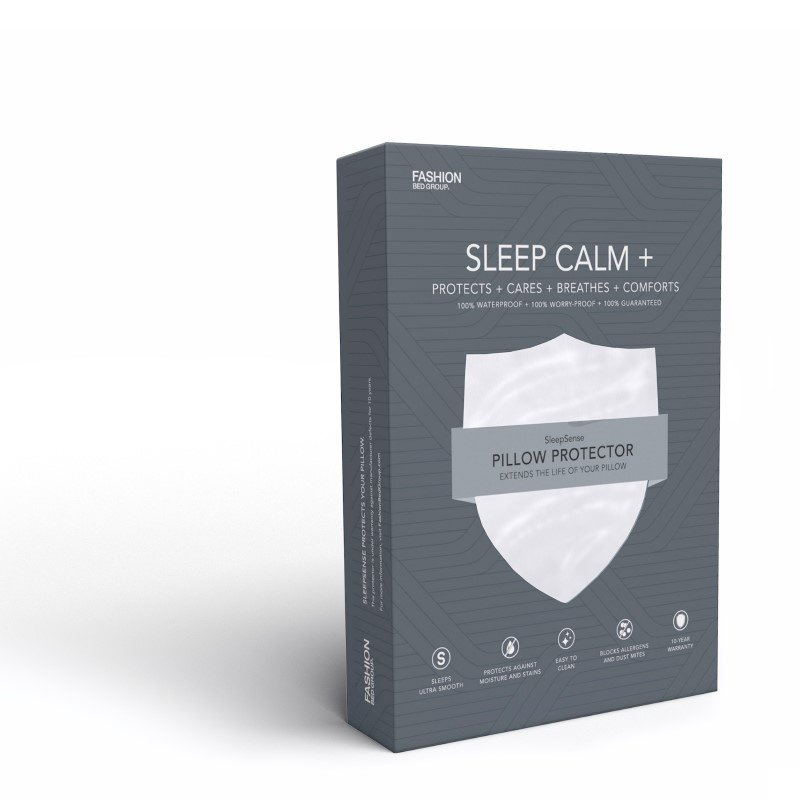 Fashion Bed Group Sleep Calm - Ultra-Premium Pillow Protector with Moisture and Bacteria Resistant Crypton Fabric - King/California King
