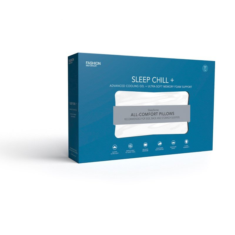 Fashion Bed Group Sleep Chill - Advanced Cooling Gel Memory Foam Pillow - Standard/Queen