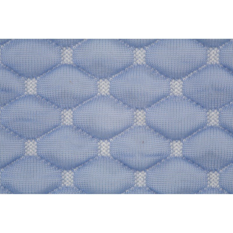 Fashion Bed Group Sleep Chill - Crystal Gel Mattress Protector with Cooling Fibers and Blue 3-D Fabric - Split King