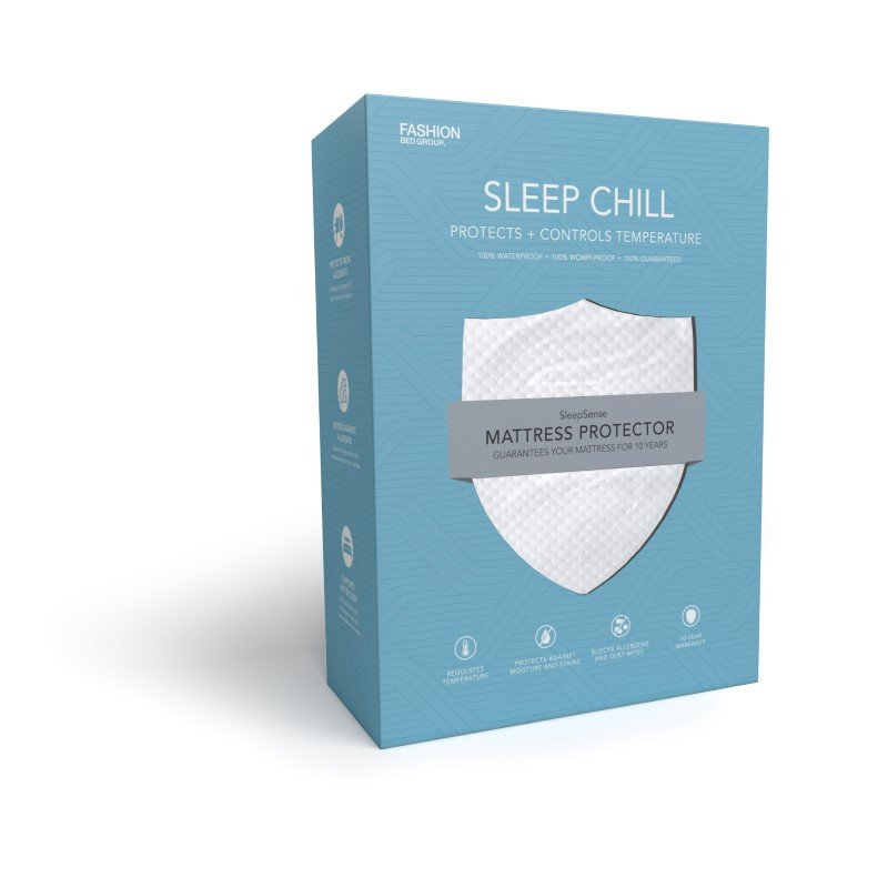 Fashion Bed Group Sleep Chill Mattress Protector with Soft and Moisture Resistant CoolMax Fabric - California King