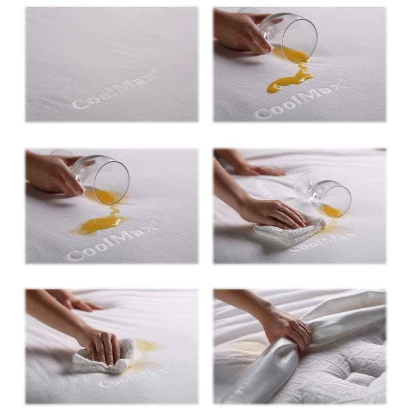 Fashion Bed Group Sleep Chill Mattress Protector with Soft and Moisture Resistant CoolMax Fabric - King