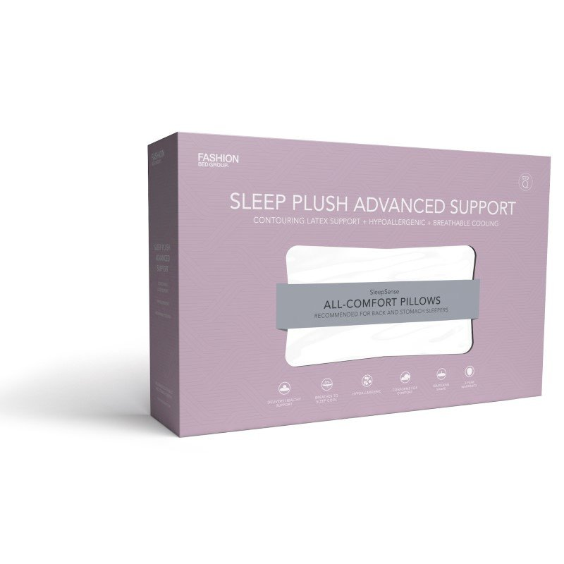 Fashion Bed Group Sleep Plush Advanced Support Micro-Cubed Latex Foam Pillow - Standard/Queen