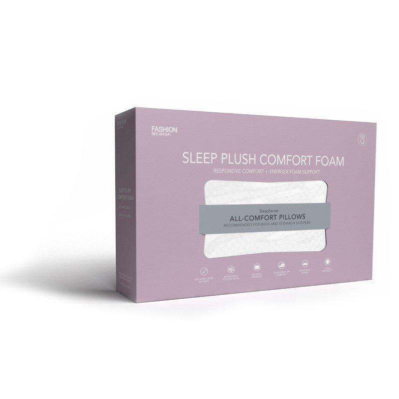 Fashion Bed Group Sleep Plush Energex Comfort Foam Pillow - Standard/Queen