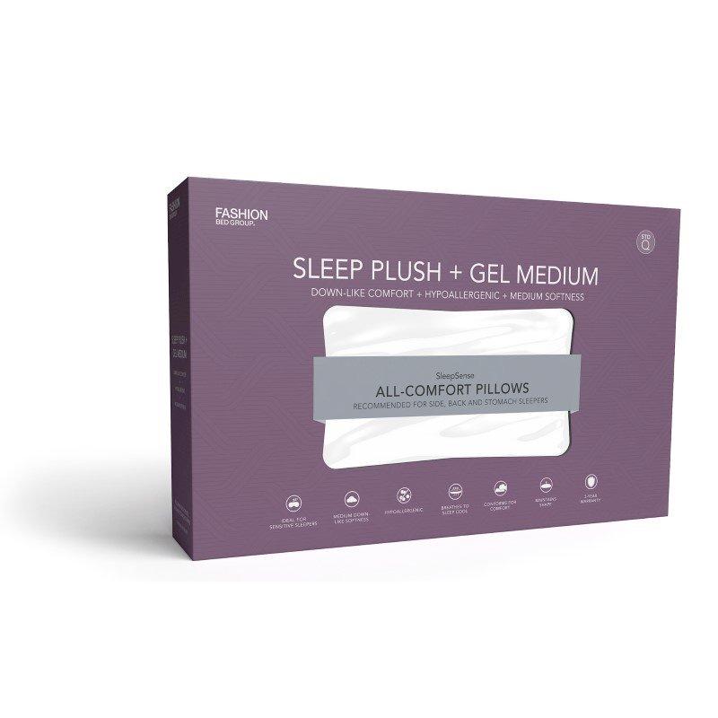Fashion Bed Group Sleep Plush GelSoft Medium Density Fiber Pillow - Standard/Queen