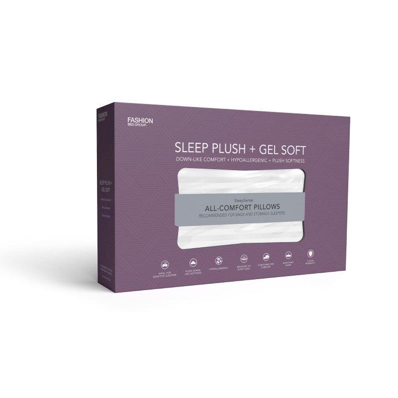 Fashion Bed Group Sleep Plush GelSoft Plush Density Fiber Pillow - Standard/Queen