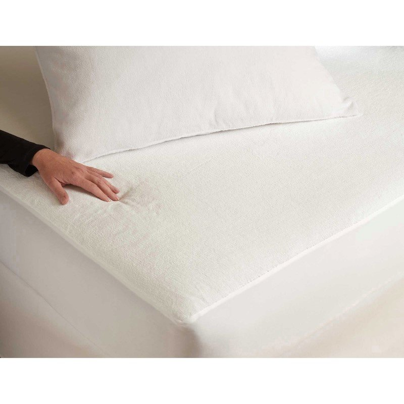Fashion Bed Group Sleep Plush Pillow Protector with Ultra-Soft and Waterproof Fabric - Standard/Queen
