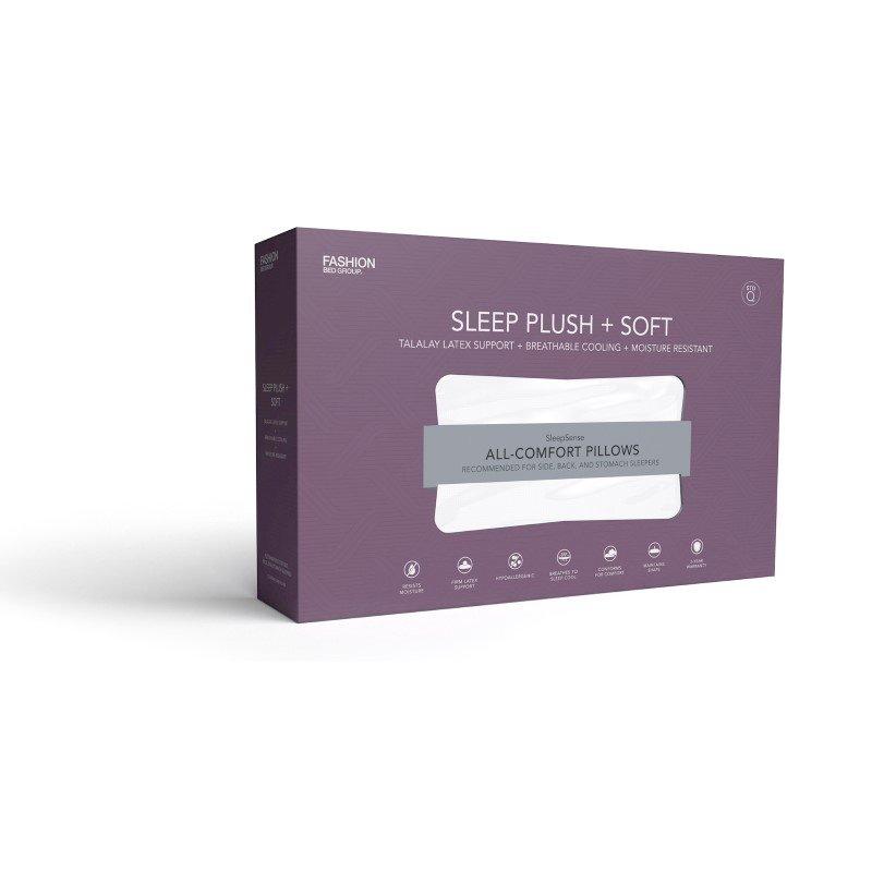 Fashion Bed Group Sleep Plush Soft Density Latex Foam Pillow - Standard/Queen