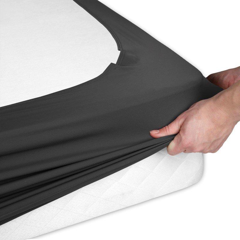 Fashion Bed Group Sleep Plush StyleWrap Black Fabric Box Spring Cover - Full
