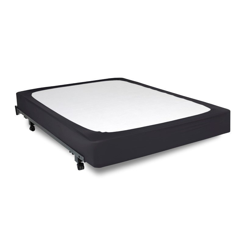 Fashion Bed Group Sleep Plush StyleWrap Black Fabric Box Spring Cover - Queen