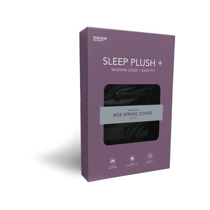 Fashion Bed Group Sleep Plush StyleWrap Black Fabric Box Spring Cover - Twin