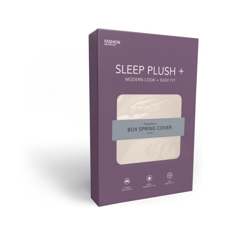 Fashion Bed Group Sleep Plush StyleWrap Ivory Fabric Box Spring Cover - Full