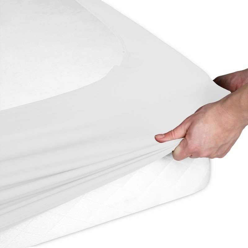Fashion Bed Group Sleep Plush StyleWrap White Fabric Box Spring Cover - Full