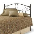 Fashion Bed Group Sylvania Metal Headboard with Curved Grill Design and Finial Posts - French Roast Finish - Full
