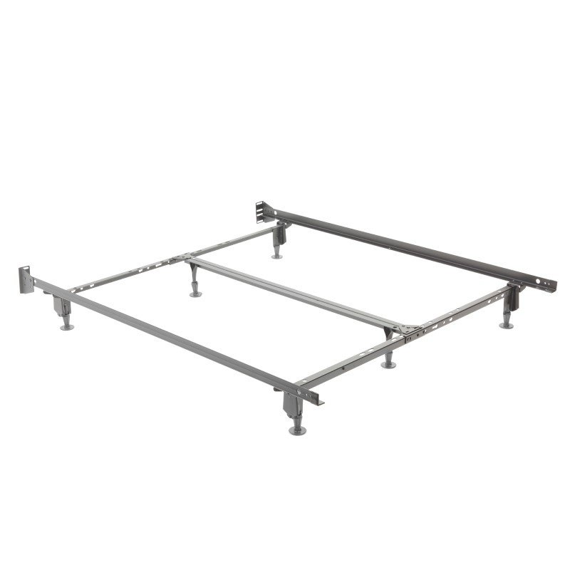 Fashion Bed Group Uni-Matic 83456G Universal Bed Frame with Fixed Headboard Brackets and (6) Leg Glides - Twin/King