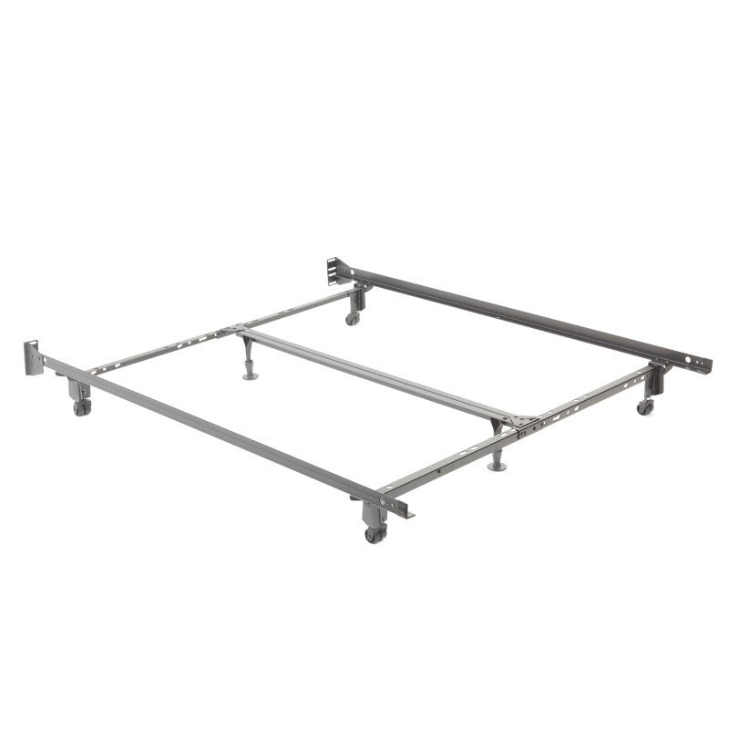 """Fashion Bed Group Uni-Matic 83456R Universal Bed Frame with Fixed Headboard Brackets and 2"""" Locking Rug Rollers - Twin/King"""