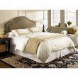 Fashion Bed Group Versailles Complete Bed with Upholstered Headboard and Q45G Steel Support Frame - Brown Sugar Finish - Full/Queen
