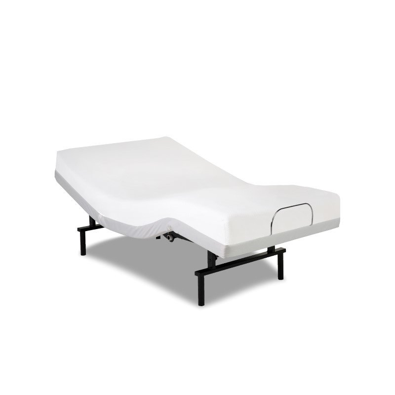 Fashion Bed Group Vibrance Adjustable Bed Base with Head and Foot Articulation - White Finish - Twin XL