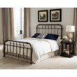 Fashion Bed Group Vienna Complete Bed with Metal Duo Panels and Carved Finials - Aged Gold Finish - California King