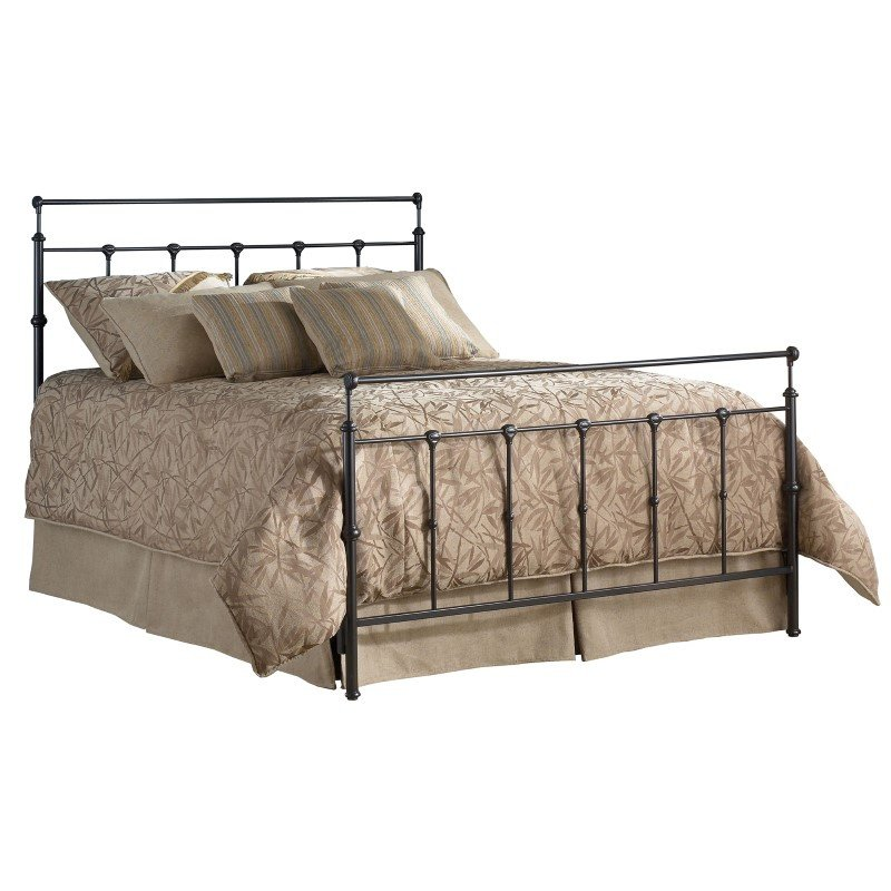 Fashion Bed Group Winslow Complete Bed with Metal Duo Panels and Aluminum Castings - Mahogany Gold Finish - California King