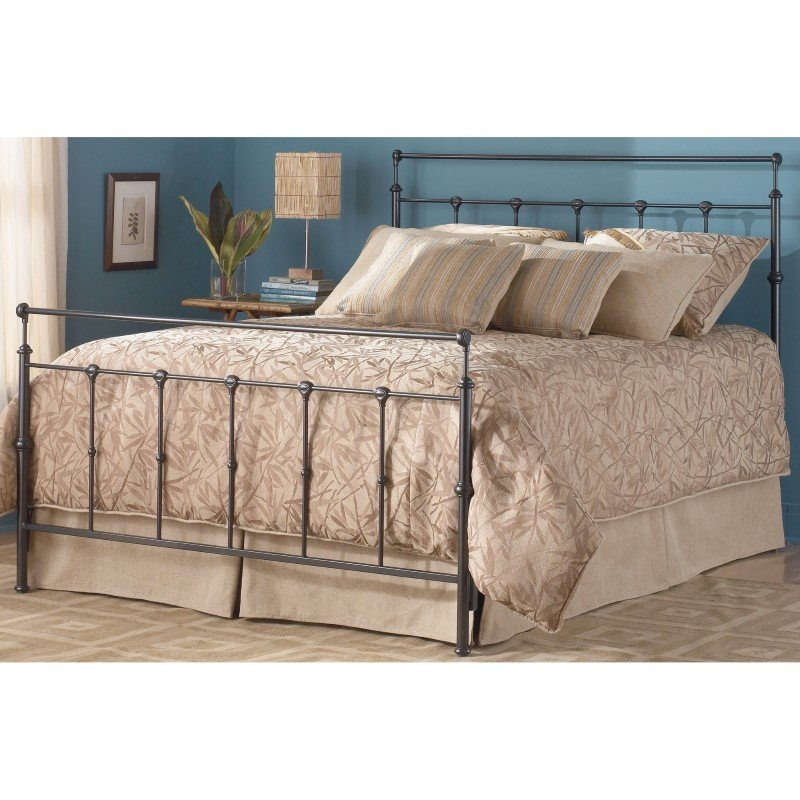 Fashion Bed Group Winslow Complete Bed with Metal Duo Panels and Aluminum Castings - Mahogany Gold Finish - King